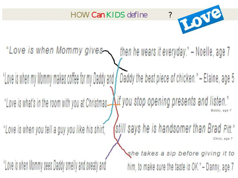 HOW Can KIDS define ? SOURCE: http://www.heartloveweddings.com/2011/09/love-a...