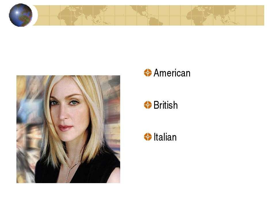American British Italian