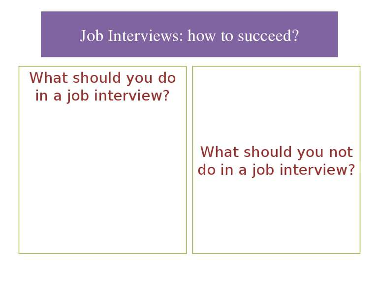 Job Interviews: how to succeed? What should you do in a job interview? What s...