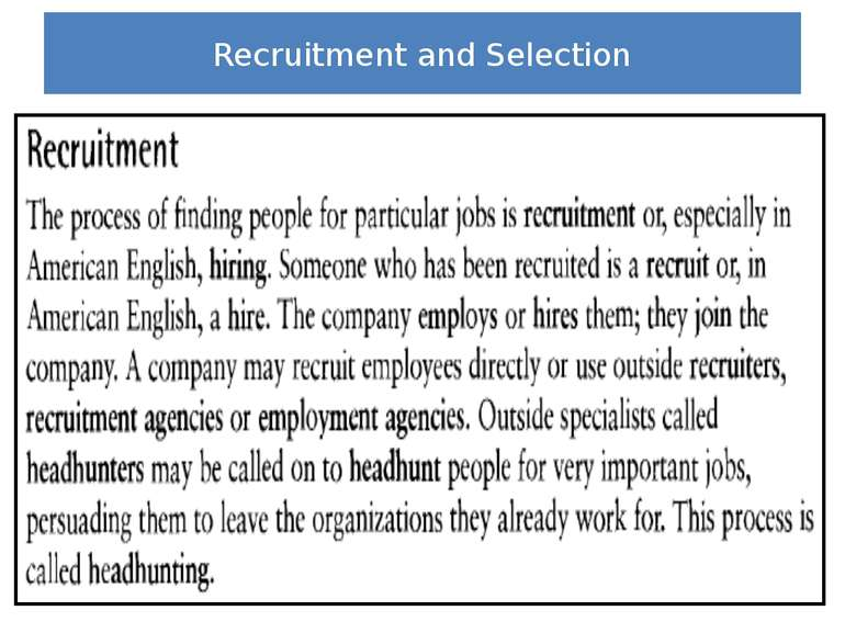 "Recruitment and Selection Lesson based on unit 3 ""Recruitment and Selection"" ..."