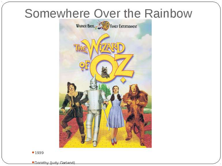 Somewhere Over the Rainbow 1939 Dorothy (Judy Garland)
