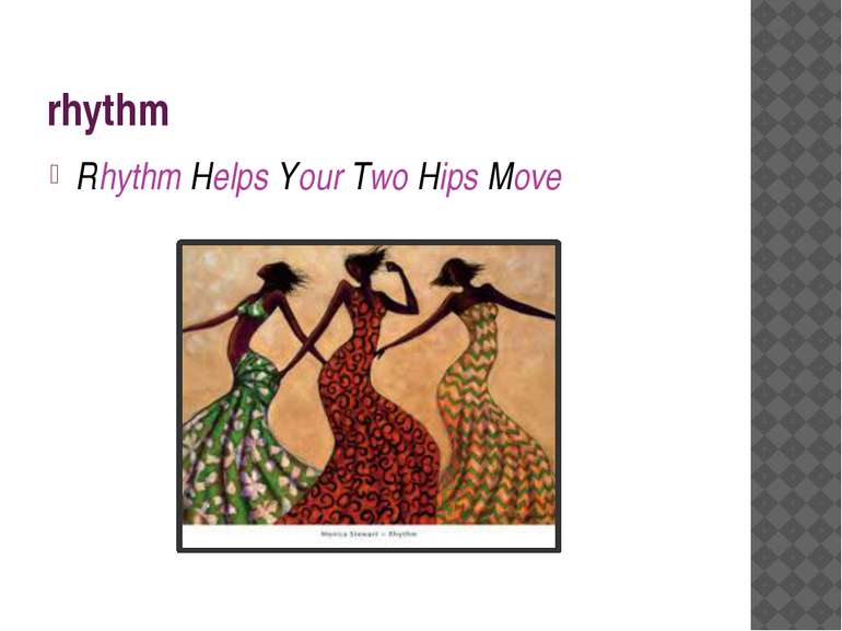 rhythm Rhythm Helps Your Two Hips Move