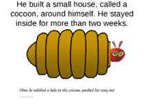He built a small house, called a cocoon, around himself. He stayed inside for...