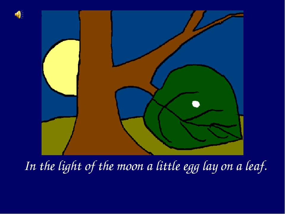 In the light of the moon a little egg lay on a leaf.