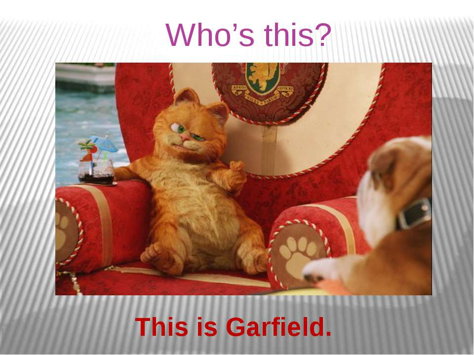 Who's this? This is Garfield.