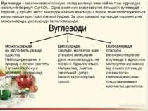 Вуглеводи – оксигеновмісні сполуки, склад молекул яких найчастіше відповідає ...