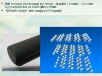 Дві основні різновиди вуглецю - графіт і алмаз - істотно відрізняються за вла...