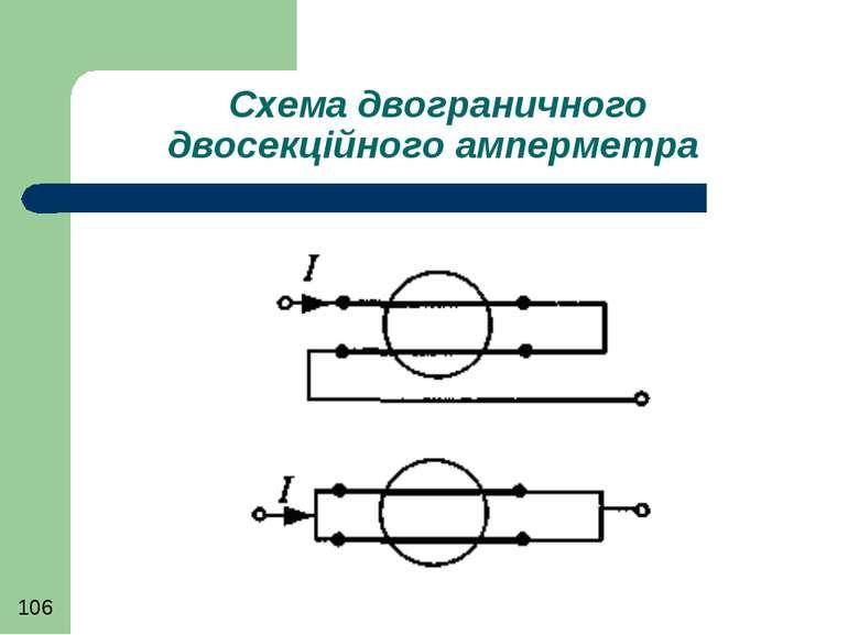 Схема двограничного двосекційного амперметра