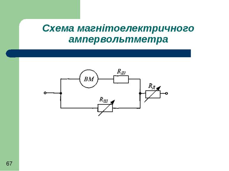 Схема магнітоелектричного ампервольтметра