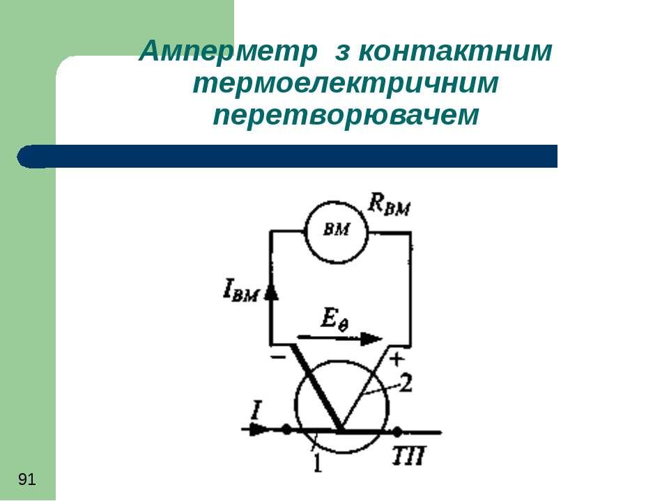 Амперметр з контактним термоелектричним перетворювачем