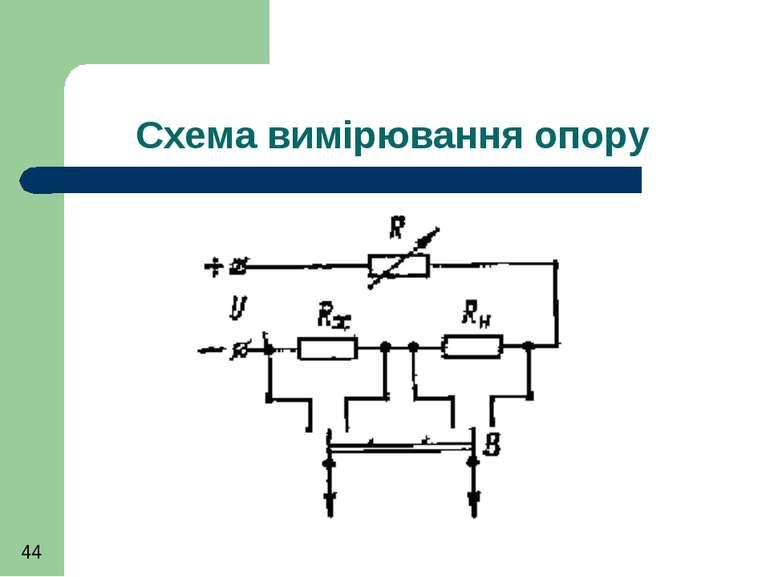 Схема вимірювання опору