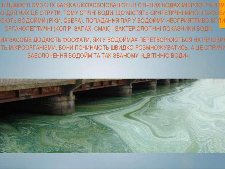 НЕДОЛІКОМ БІЛЬШОСТІ CMЗ Є ЇХ ВАЖКА БІОЗАСВОЮВАНІСТЬ В СТІЧНИХ ВОДАХ МІКРООРГА...