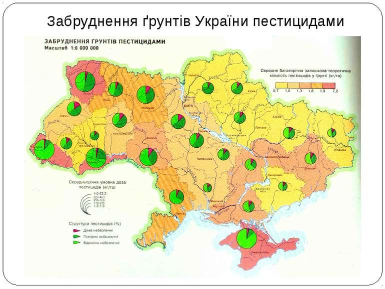 Забруднення ґрунтів України пестицидами