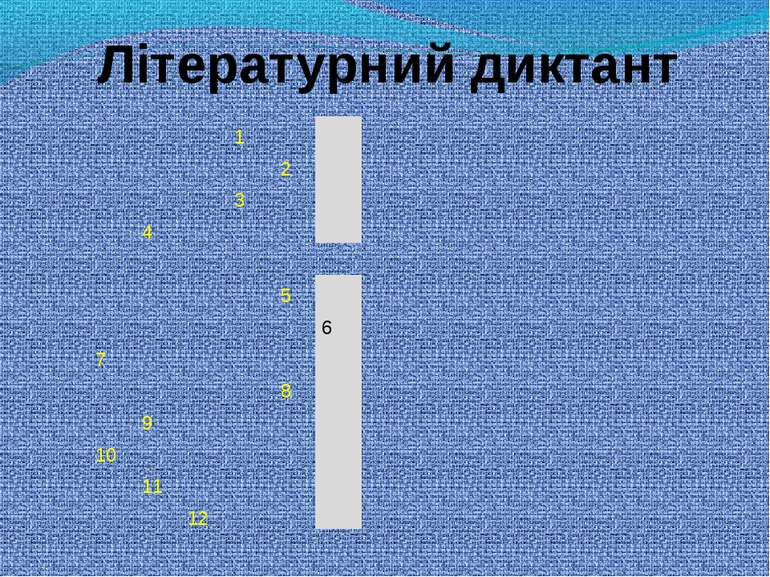 Літературний диктант 1      2     3     4      5   ...