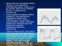 Зворотний тип лихоманки (febris inversus), коли вранішня температура вища і з...