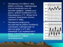 Лихоманка постійного типу (febris continua): температура тіла встановлюється ...