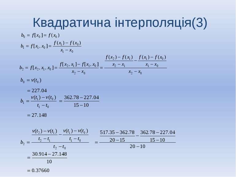 Квадратична інтерполяція(3)