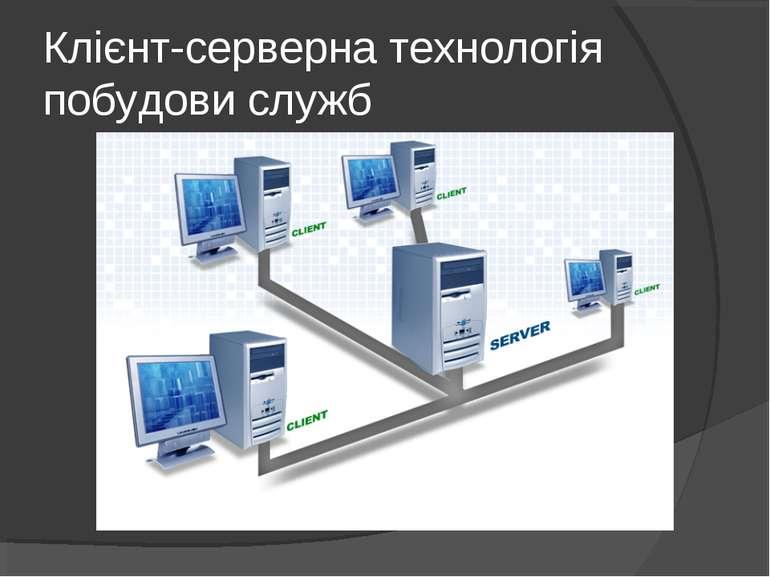 Клієнт-серверна технологія побудови служб