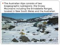 The Australian Alps consists of two biogeographic subregions: the Snowy Mount...