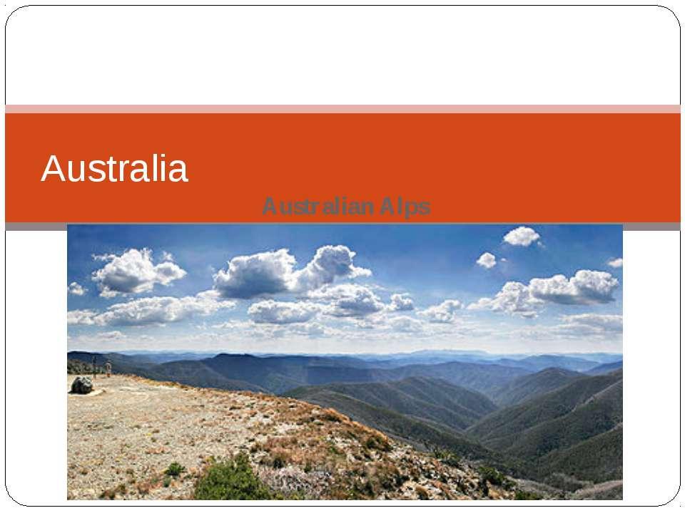 Australian Alps Australia