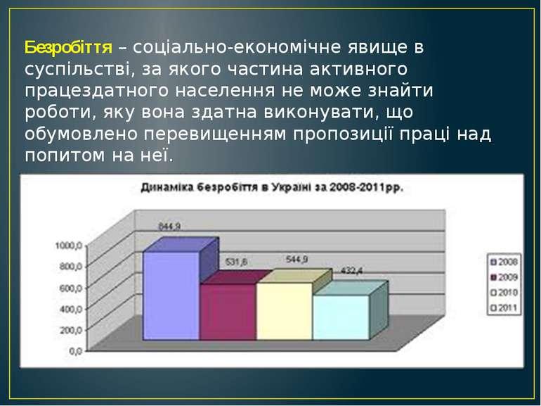 Безробіття – соціально-економічне явище в суспільстві, за якого частина актив...