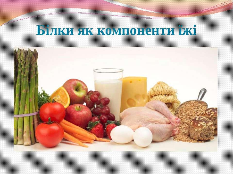 Білки як компоненти їжі