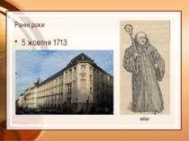 Ранні роки 5 жовтня 1713 абат Дені Дідро народився 5 жовтня 1713, Лангр.  Ма...