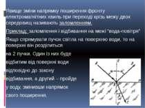 Явище зміни напрямку поширення фронту електромагнітних хвиль при переході крі...