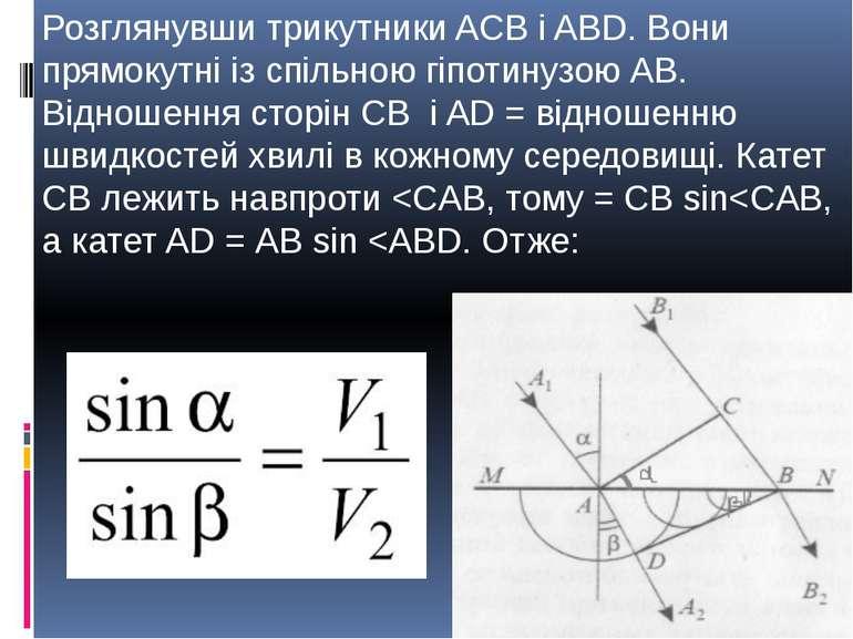 Розглянувши трикутники ACB і ABD. Вони прямокутні із спільною гіпотинузою АВ....