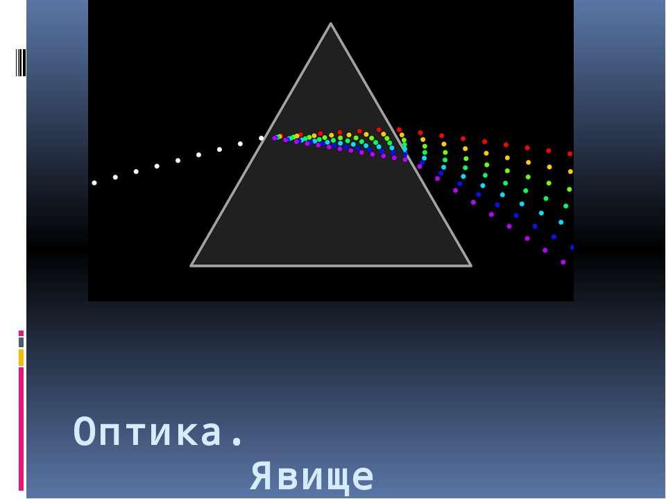 Оптика. Явище заломлення
