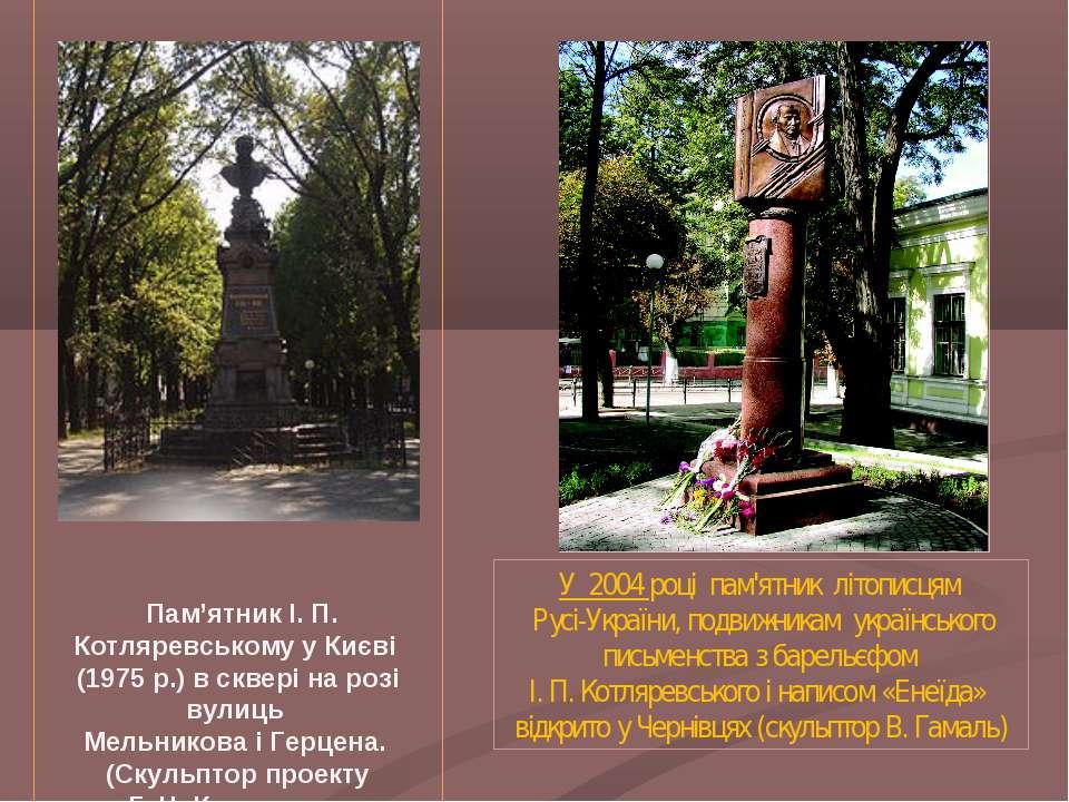 Пам'ятник І. П. Котляревському ...