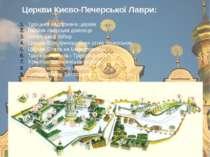Троїцька надбрамна церква Велика лаврська дзвіниця Успенський собор Церква Вс...