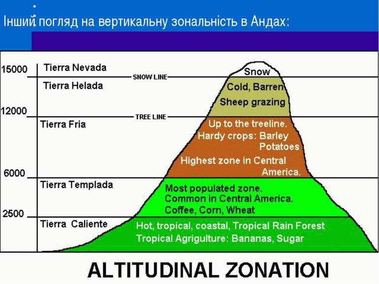 Інший погляд на вертикальну зональність в Андах: