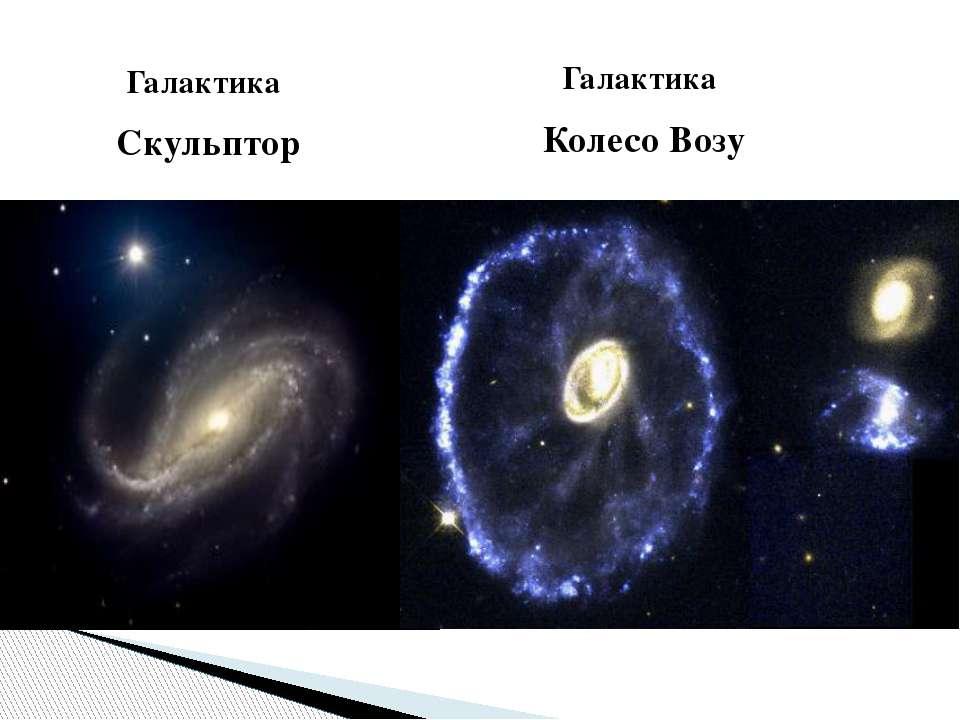 Галактика Скульптор Галактика Колесо Возу