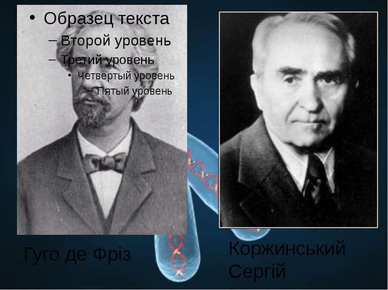 Гуго де Фріз Коржинський Сергій Іванович