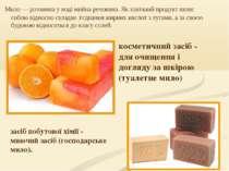 Мило— розчинна у воді мийна речовина. Як хімічний продукт являє собою віднос...