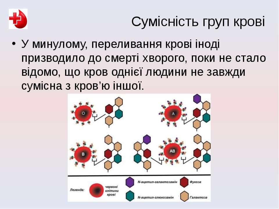 У минулому, переливання крові іноді призводило до смерті хворого, поки не ста...