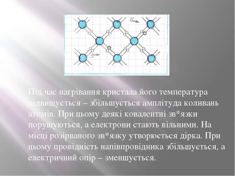 Під час нагрівання кристала його температура підвищується – збільшується ампл...