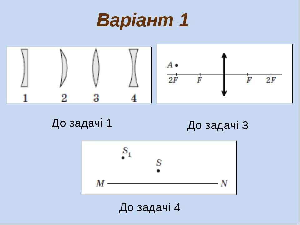 До задачі 1 Варіант 1 До задачі 3 До задачі 4
