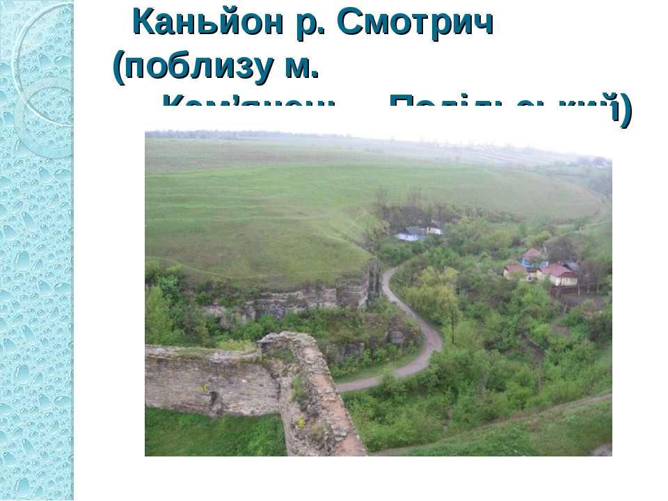 Каньйон р. Смотрич (поблизу м. Кам'янець – Подільський)