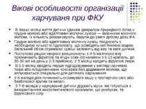 Вікові особливості організації харчуваня при ФКУ В перші місяці життя дитини ...