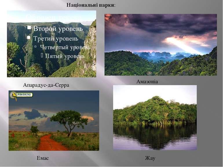 Апарадус-да-Серра Національні парки: Амазоніа Емас Жау