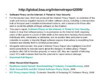 http://global.bsa.org/internetreport2009/ Software Piracy on the Internet: A ...