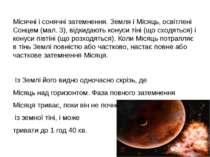Місячні і сонячні затемнення. Земля і Місяць, освітлені Сонцем (мал. 3), відк...
