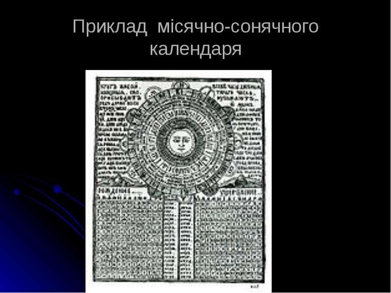 Приклад місячно-сонячного календаря