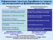 Наглядові департаменти (стара структура) Департамент державного регулювання т...