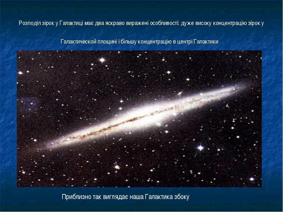 Розподіл зірок у Галактиці має два яскраво виражені особливості: дуже високу ...