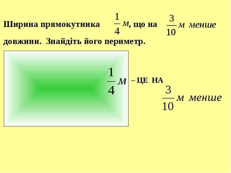 Ширина прямокутника , що на довжини. Знайдіть його периметр. – ЦЕ НА