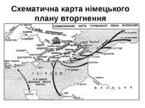 Схематична карта німецького плану вторгнення