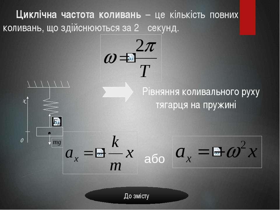 Циклічна частота коливань – це кількість повних коливань, що здійснюються за ...